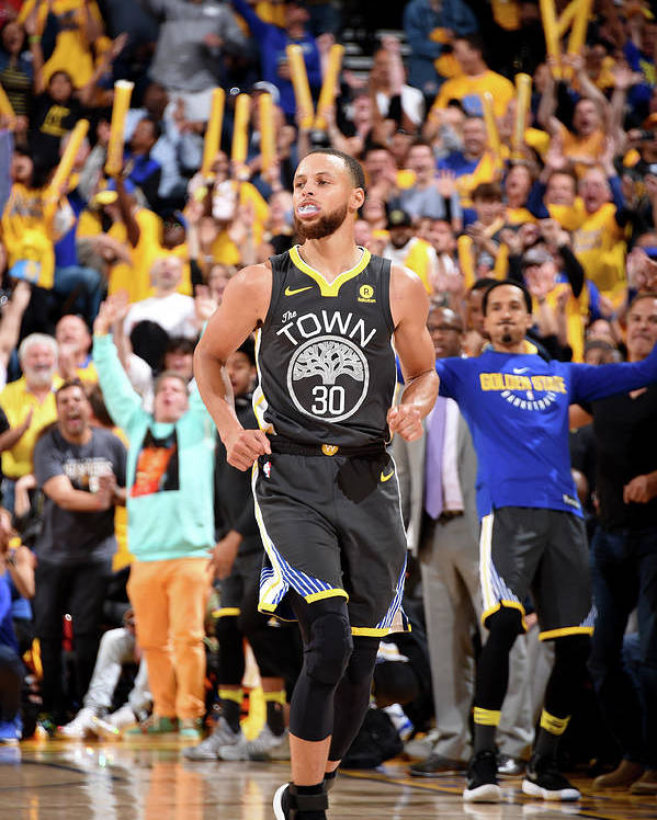 Playoffs Poster featuring the photograph Stephen Curry by Andrew D. Bernstein