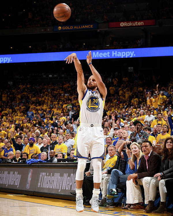Playoffs Poster featuring the photograph Stephen Curry by Garrett Ellwood