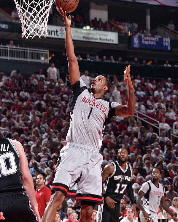 Playoffs Poster featuring the photograph Trevor Ariza by Bill Baptist