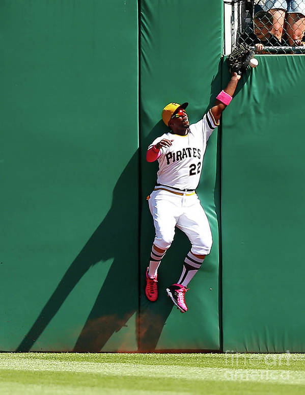 People Poster featuring the photograph Andrew Mccutchen by Jared Wickerham