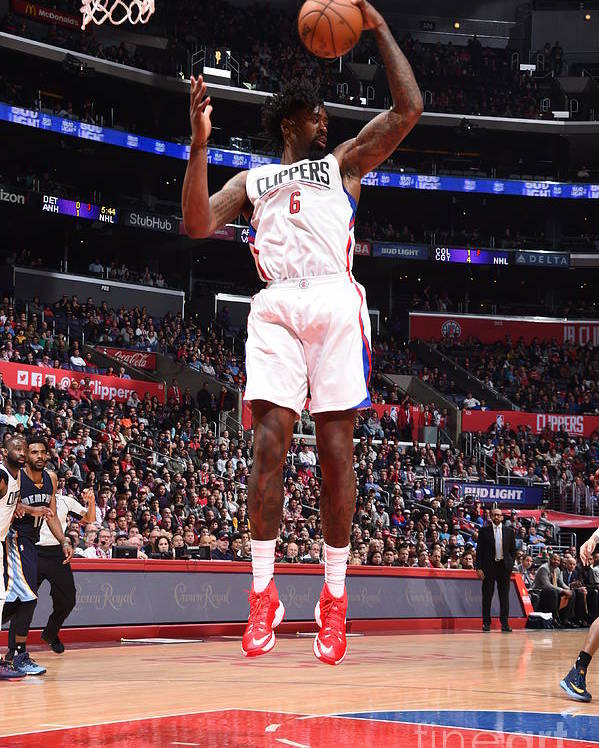 Nba Pro Basketball Poster featuring the photograph Deandre Jordan by Andrew D. Bernstein