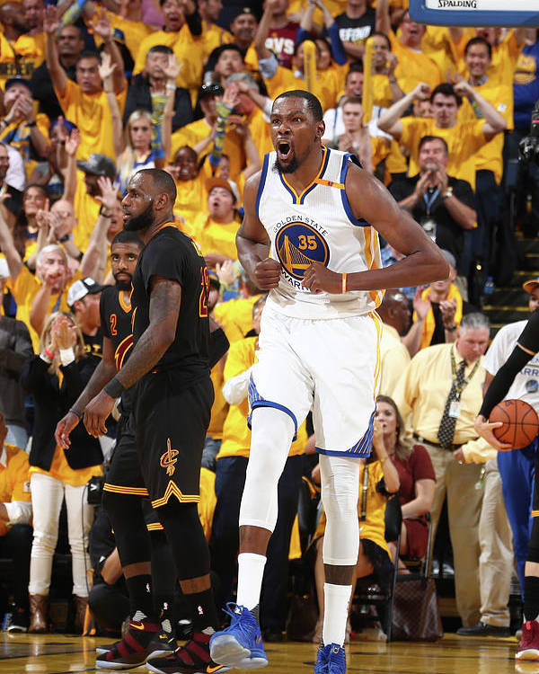 Playoffs Poster featuring the photograph Kevin Durant by Nathaniel S. Butler
