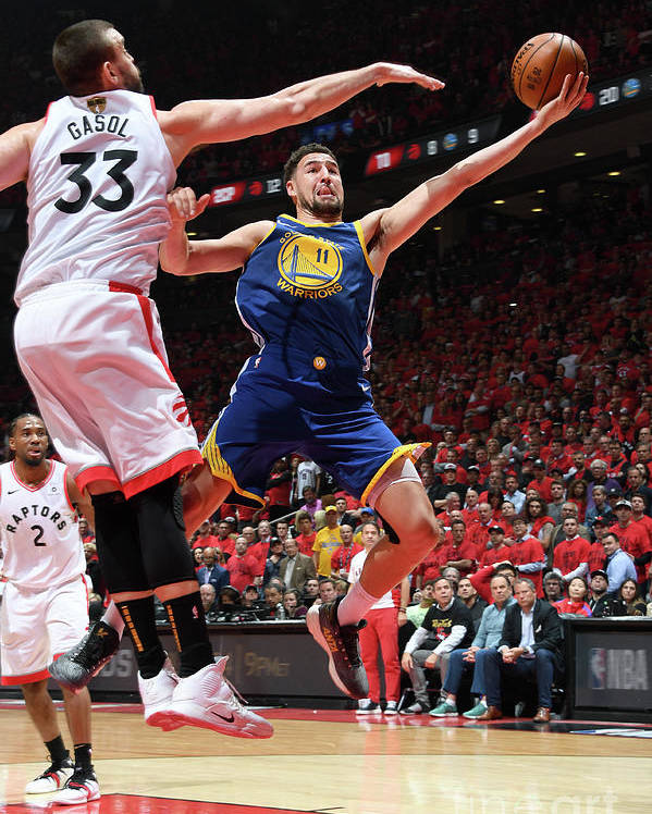 Playoffs Poster featuring the photograph Klay Thompson by Andrew D. Bernstein