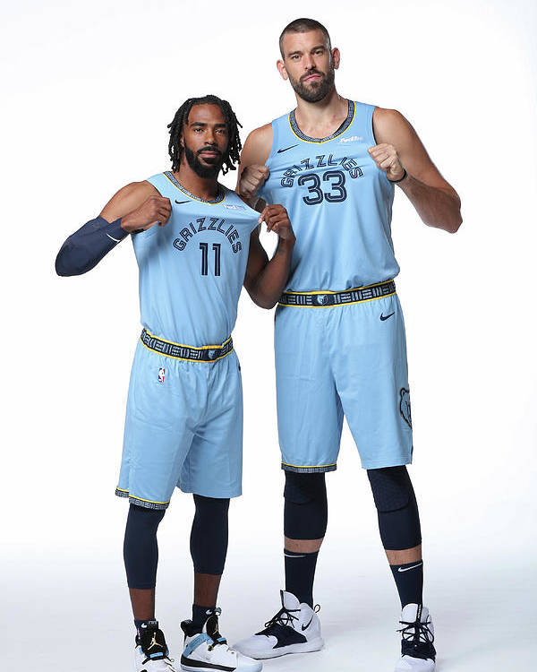 Media Day Poster featuring the photograph Mike Conley by Joe Murphy