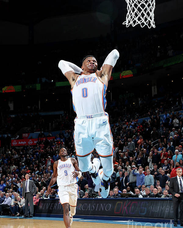 Nba Pro Basketball Poster featuring the photograph Russell Westbrook by Zach Beeker