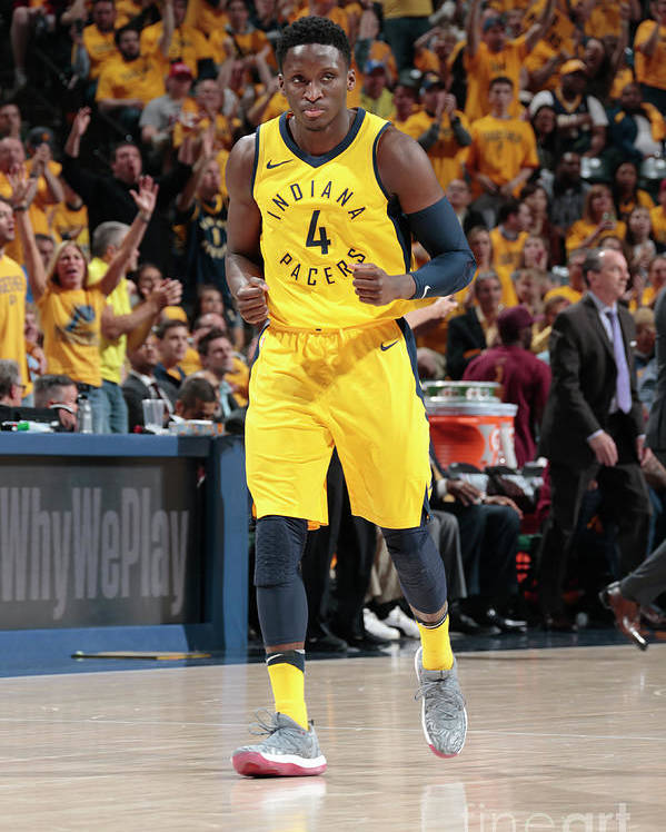 Playoffs Poster featuring the photograph Victor Oladipo by Ron Hoskins