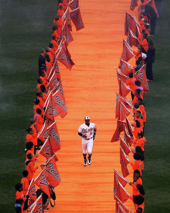 Adam Jones - Baseball Player Poster featuring the photograph Adam Jones by Rob Carr