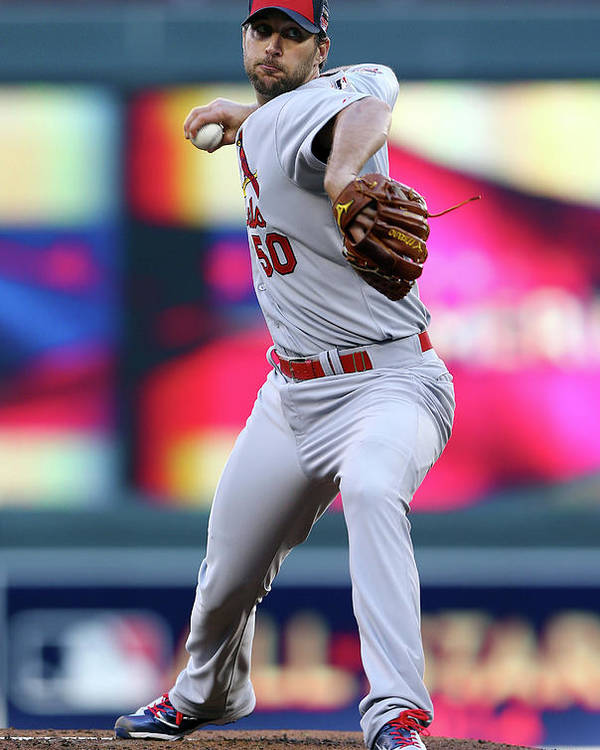 St. Louis Cardinals Poster featuring the photograph Adam Wainwright by Elsa