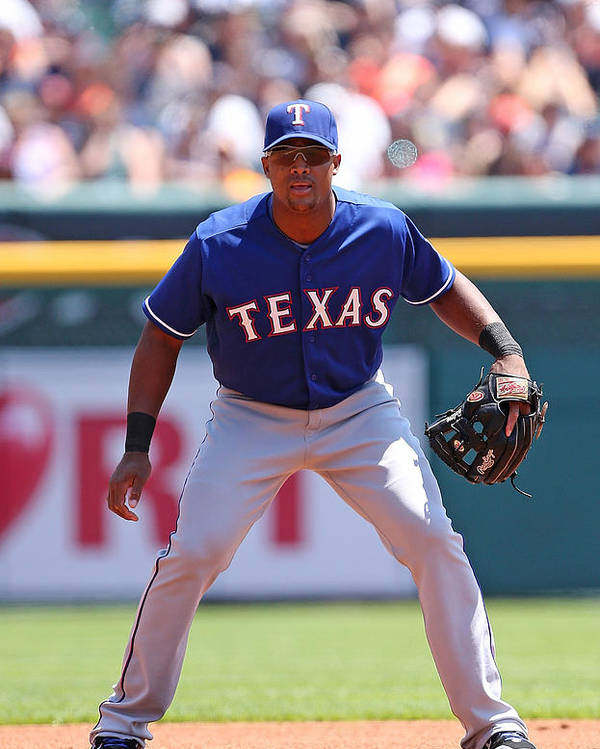 Adrian Beltre Poster featuring the photograph Adrian Beltre by Leon Halip
