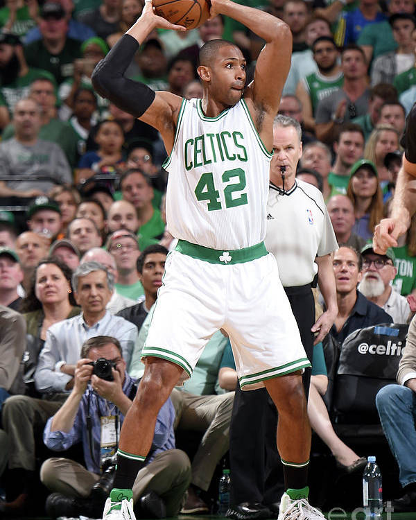 Playoffs Poster featuring the photograph Al Horford by Brian Babineau