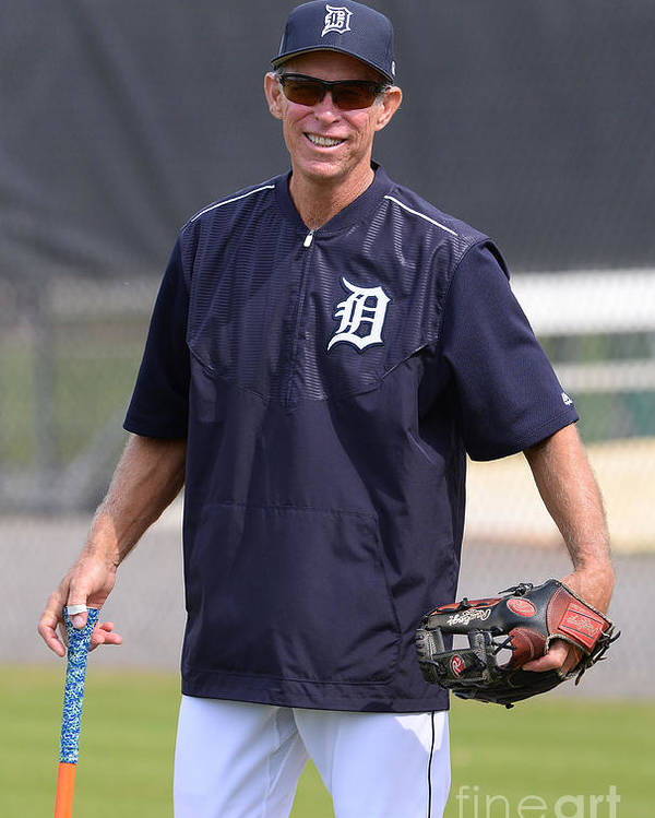 Three Quarter Length Poster featuring the photograph Alan Trammell by Mark Cunningham