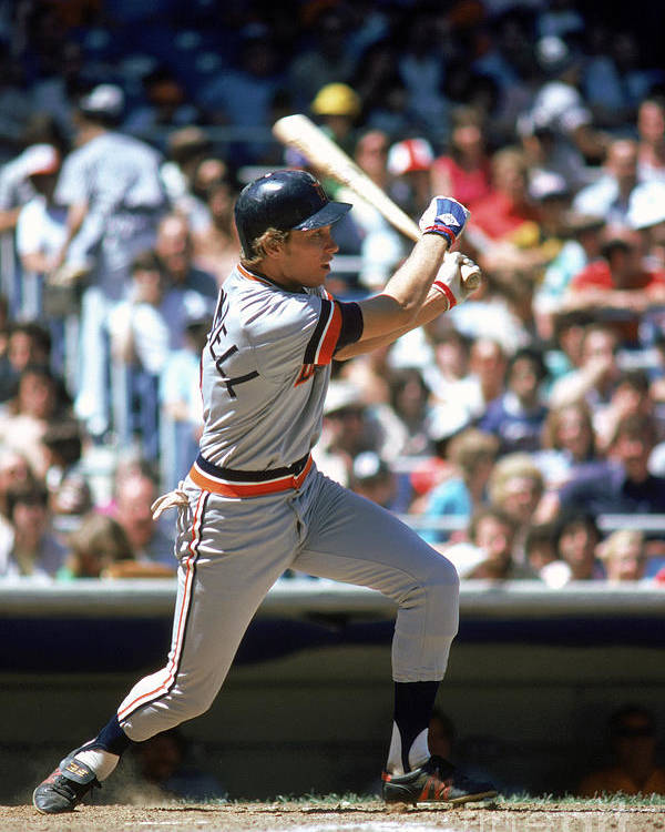 1980-1989 Poster featuring the photograph Alan Trammell by Rich Pilling