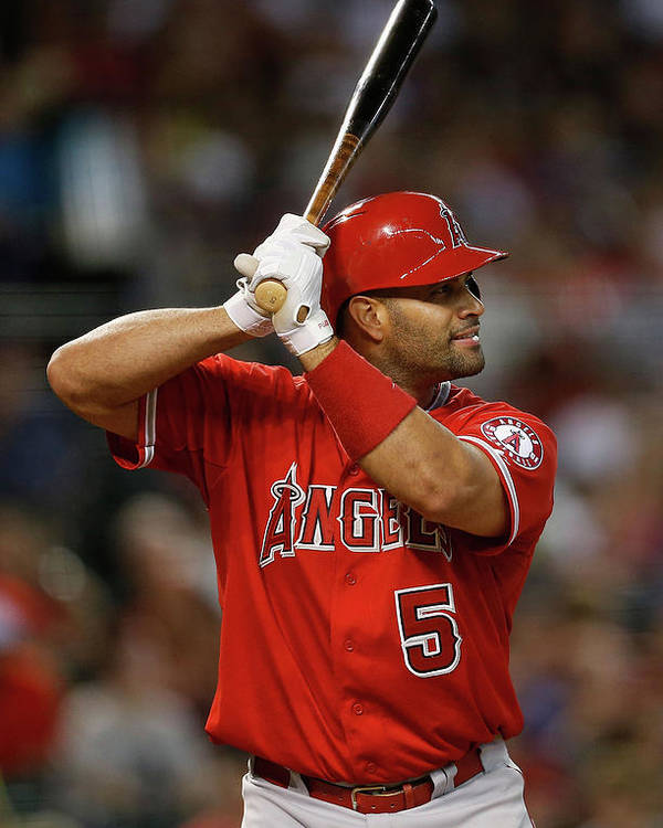 People Poster featuring the photograph Albert Pujols by Christian Petersen
