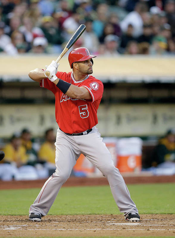 American League Baseball Poster featuring the photograph Albert Pujols by Ezra Shaw