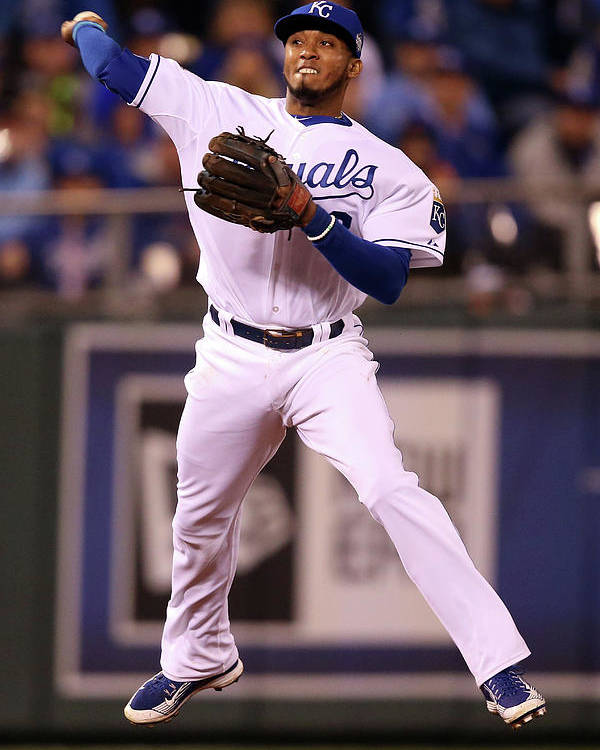 People Poster featuring the photograph Alcides Escobar by Doug Pensinger