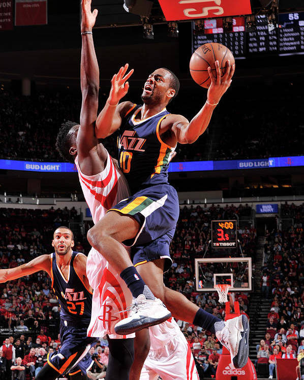 Nba Pro Basketball Poster featuring the photograph Alec Burks by Bill Baptist