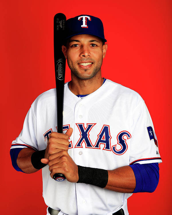 Media Day Poster featuring the photograph Alex Rios by Jamie Squire