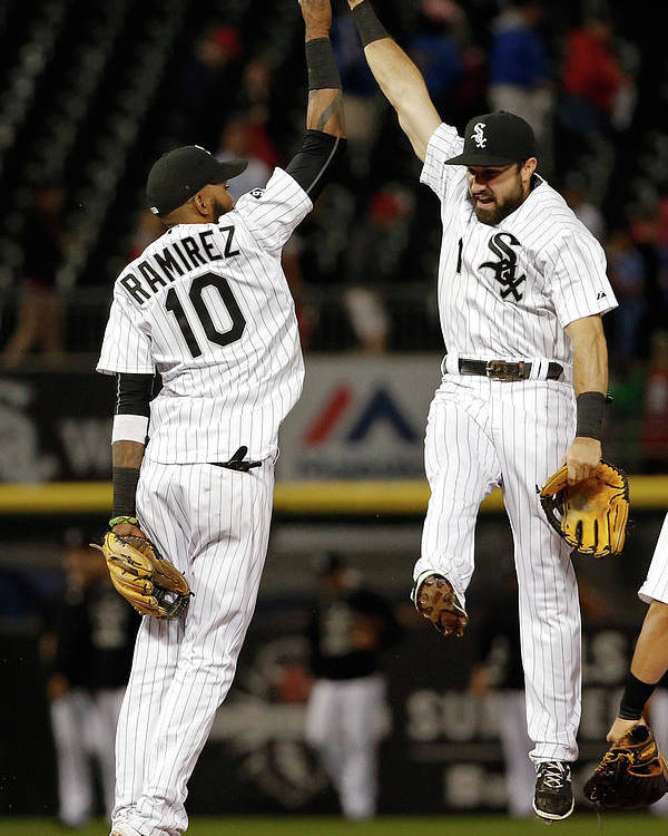 People Poster featuring the photograph Alexei Ramirez and Adam Eaton by Jon Durr
