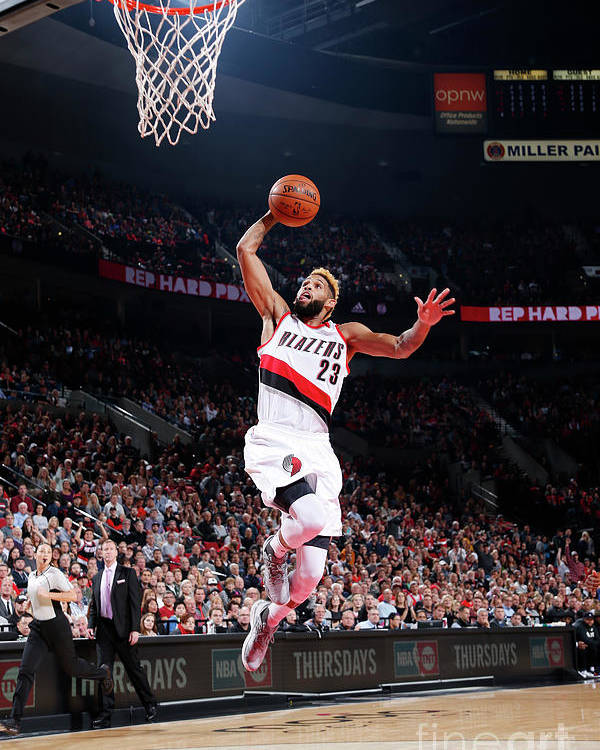 Nba Pro Basketball Poster featuring the photograph Allen Crabbe by Sam Forencich