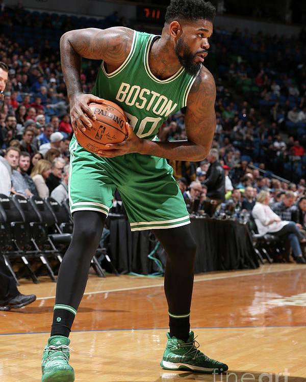 Nba Pro Basketball Poster featuring the photograph Amir Johnson by David Sherman