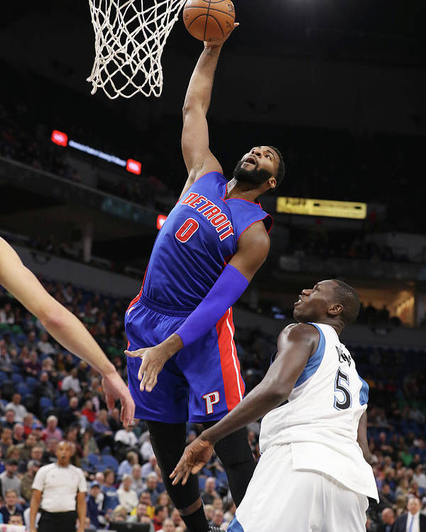 Nba Pro Basketball Poster featuring the photograph Andre Drummond by Jordan Johnson