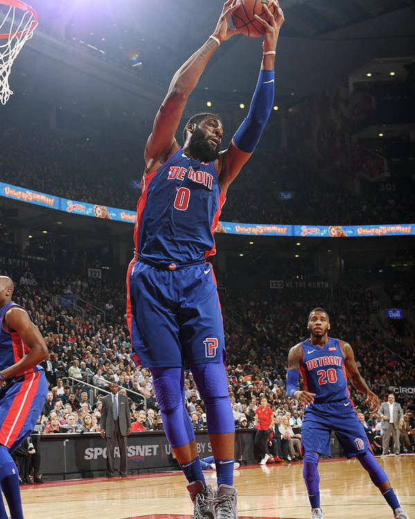 Nba Pro Basketball Poster featuring the photograph Andre Drummond by Ron Turenne