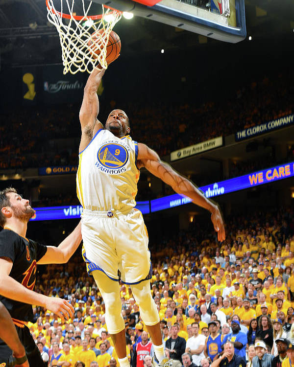 Playoffs Poster featuring the photograph Andre Iguodala and Stephen Curry by Jesse D. Garrabrant