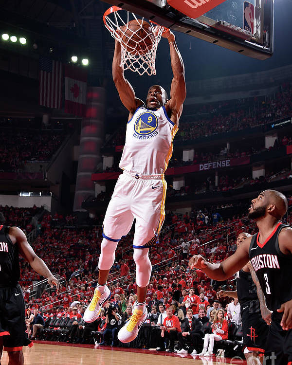 Playoffs Poster featuring the photograph Andre Iguodala by Bill Baptist