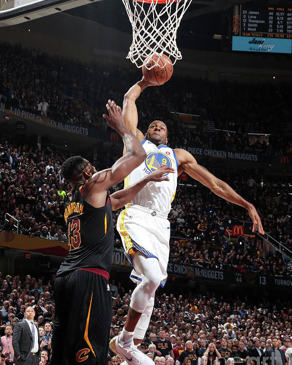 Playoffs Poster featuring the photograph Andre Iguodala by Nathaniel S. Butler