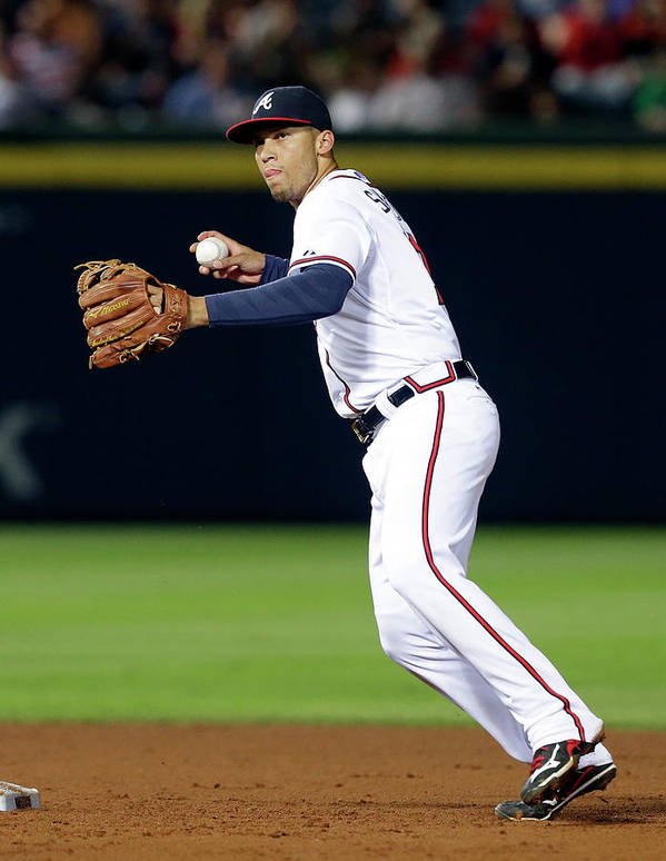 Atlanta Poster featuring the photograph Andrelton Simmons by Butch Dill
