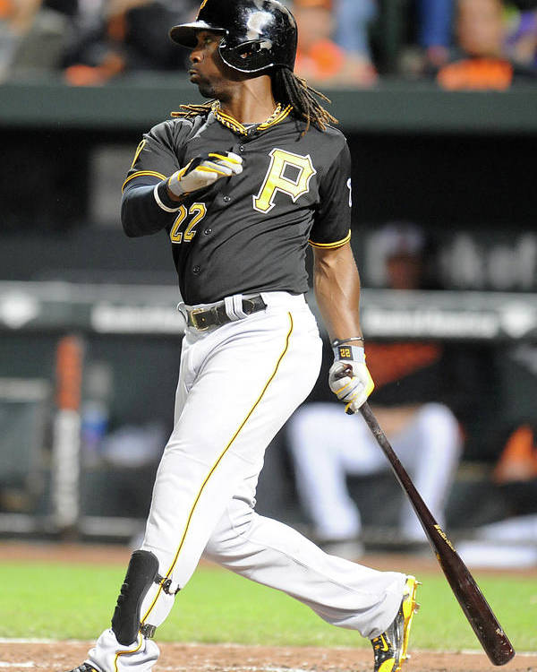 Game Two Poster featuring the photograph Andrew Mccutchen by Mitchell Layton