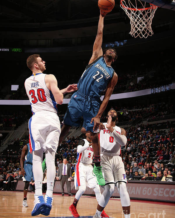 Nba Pro Basketball Poster featuring the photograph Andrew Wiggins by Brian Sevald