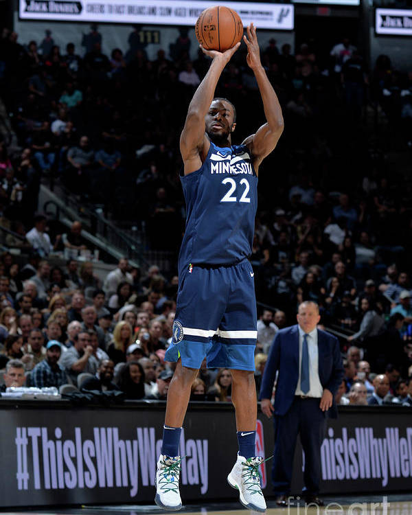 Nba Pro Basketball Poster featuring the photograph Andrew Wiggins by Mark Sobhani