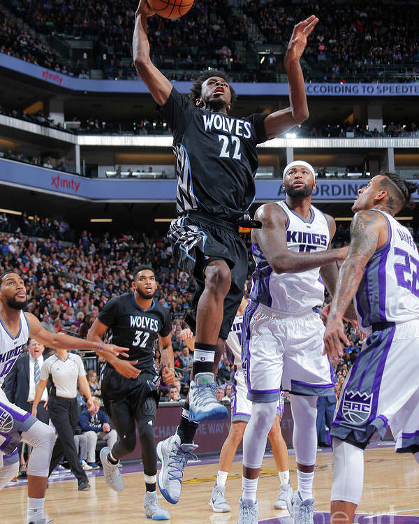 Nba Pro Basketball Poster featuring the photograph Andrew Wiggins by Rocky Widner