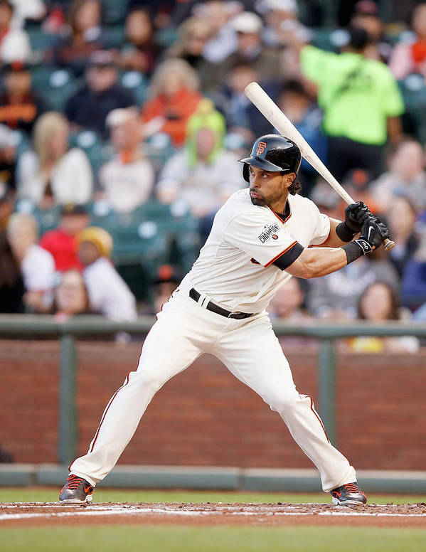 San Francisco Poster featuring the photograph Angel Pagan by Ezra Shaw