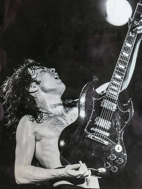 Angus Young Poster featuring the photograph Angus Young 1981 ACDC by Leigh Henningham