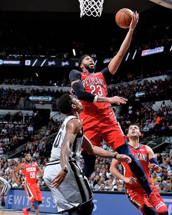 Nba Pro Basketball Poster featuring the photograph Anthony Davis by Mark Sobhani