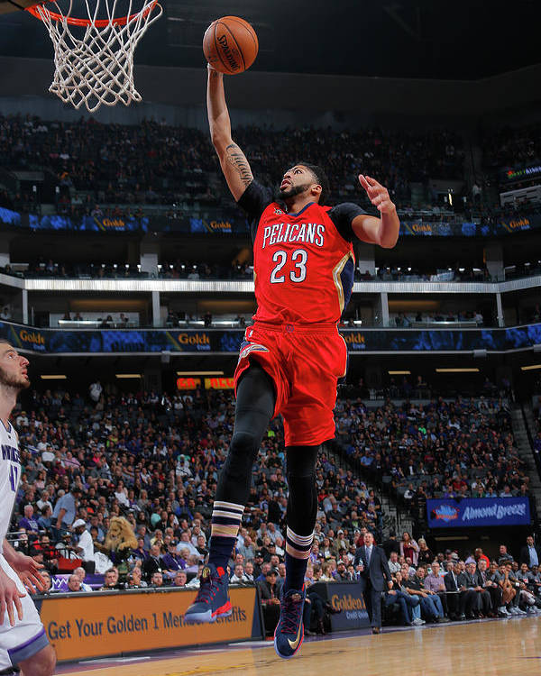 Nba Pro Basketball Poster featuring the photograph Anthony Davis by Rocky Widner