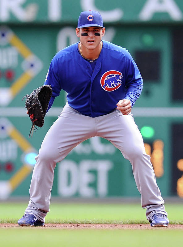 Pnc Park Poster featuring the photograph Anthony Rizzo by Joe Sargent