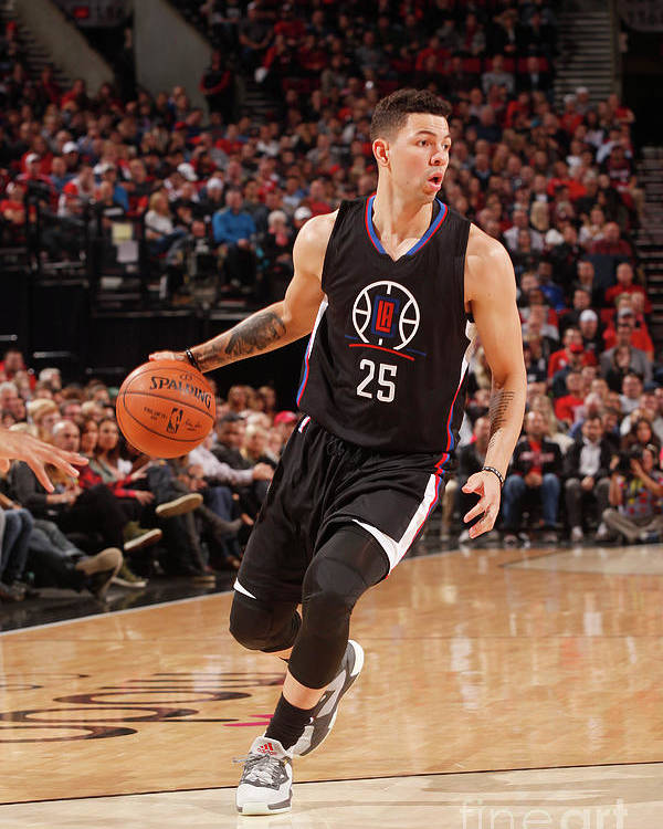 Nba Pro Basketball Poster featuring the photograph Austin Rivers by Cameron Browne