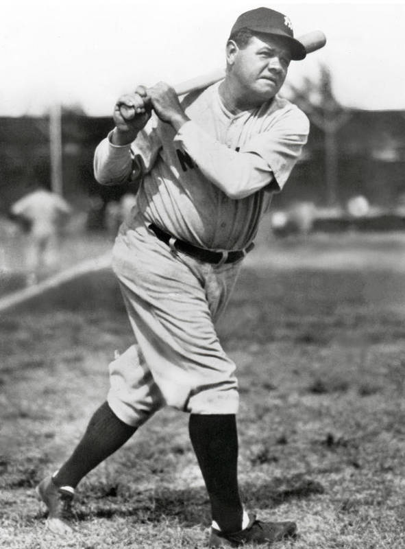 American League Baseball Poster featuring the photograph Babe Ruth by Mlb Photos