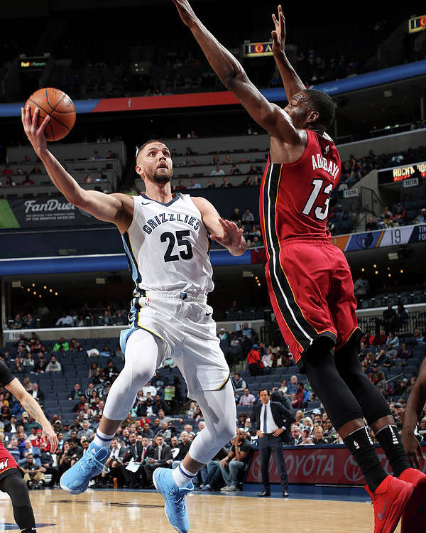 Nba Pro Basketball Poster featuring the photograph Bam Adebayo and Chandler Parsons by Joe Murphy
