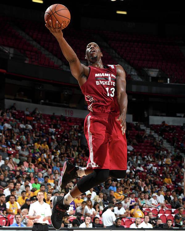 Nba Pro Basketball Poster featuring the photograph Bam Adebayo by Garrett Ellwood