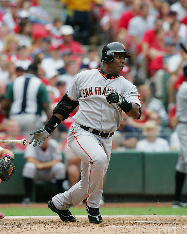 Sports Bat Poster featuring the photograph Barry Bonds by Dilip Vishwanat