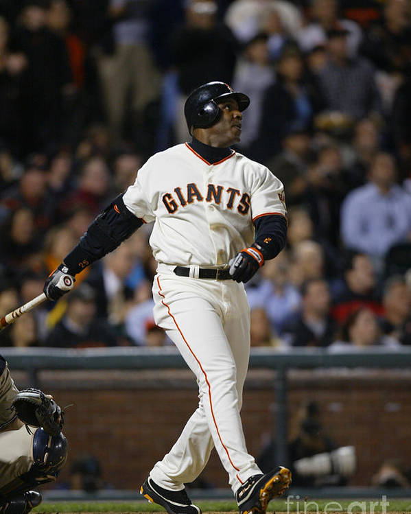 San Francisco Poster featuring the photograph Barry Bonds by Don Smith
