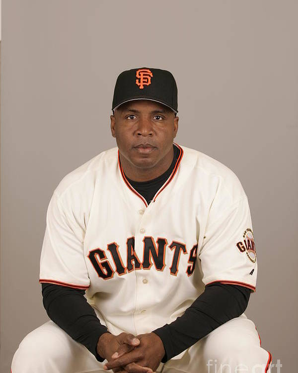 Media Day Poster featuring the photograph Barry Bonds by Jason Wise