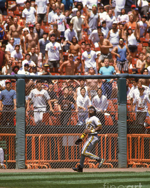 Candlestick Park Poster featuring the photograph Barry Bonds by Otto Greule Jr