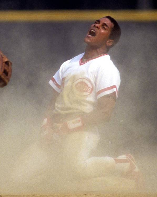 1980-1989 Poster featuring the photograph Barry Larkin by Ronald C. Modra/sports Imagery