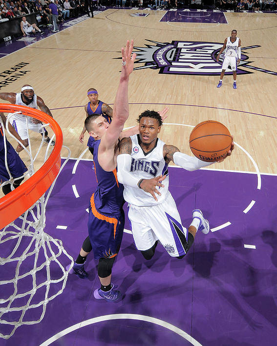 Nba Pro Basketball Poster featuring the photograph Ben Mclemore and Alex Len by Rocky Widner