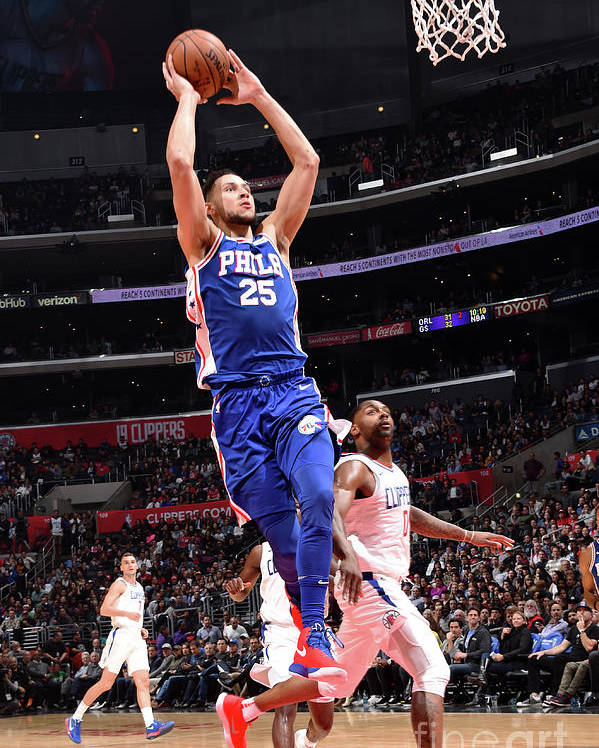 Nba Pro Basketball Poster featuring the photograph Ben Simmons by Andrew D. Bernstein